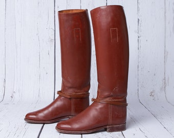vintage Millers English leather riding boots womens boots
