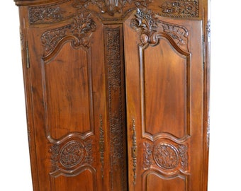 Stunning Chippendale Style Hand Carved Mahogany Armoire, 92″H, PA5031JLR, SHIPPING NOT FREE!!!