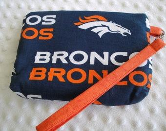 NFL Denver Broncos Wristlet, Personalization Optional