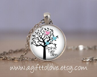 SALE! Personalized Pendant with Children's Names - Gift for Mom, Grandmother,  Aunt-  - Cyber Monday