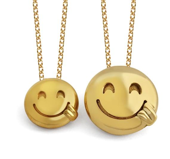 3D Goofy Emoji Pendant Goofy Emoji Jewelry Goofy Face Emoji
