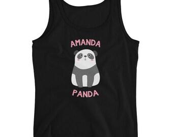 Amanda Panda Bear Ladies' Tank Top - Great gift for any Amanda, Manda, or Mandy