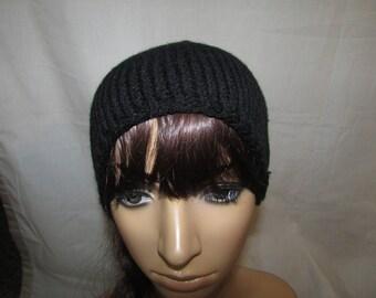 Black Slouchy Knit Beanie