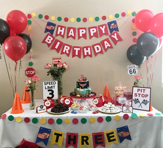 Cars Theme Birthday Banner Birthday Banner Disney Cars