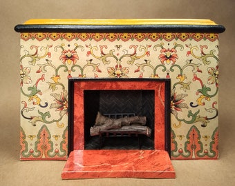 Collectible OOAK 1:12 Dollhouse Miniature Fireplace #31