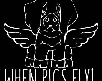 Basque Pig - When Pigs Fly Decal