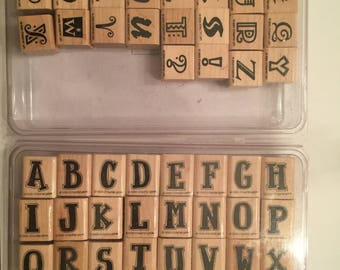 Stampin' Up! Alphabet Sets