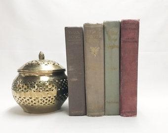 Vintage Decorative Books, Old Books, Farmhouse Decor