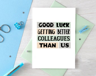 Funny New Job Card | Coworker Leaving | Good Luck New Job | Congrats New Job | Colleague Leaving | Goodbye | Leaving Job | Blank | SE0231A6