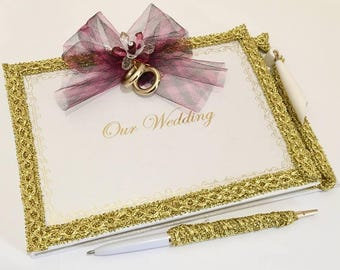 Our Wedding Signature Guest Book with Pen Set