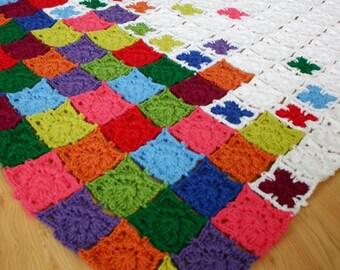 Crochet Pattern, Rainbow Sprinkles Blanket, Afghan, Throw