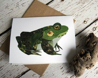 Bullfrog Card of Original Collage