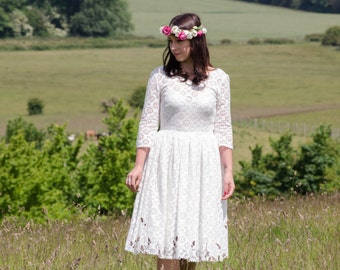 Sample Sale - Cotton Lace Dress - eco wedding dress 'Daisy'