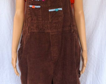 Brown Cordaroy Overalls Bibs 2X made by Highway FREE SHIPPING!!