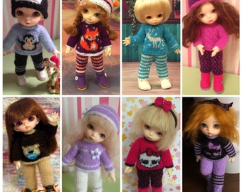 """PukiPuki/Lati white SP """"Winter set"""" Sweater, pants, hat and felt boots  Pre-order"""