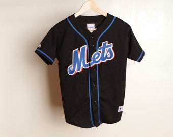 Hot Sale!!! Rare Vintage 90s New York METS MLB Embroidery Big Spell Out Button Down Jersey Hip Hop Skate Swag Made In USA Extra Large Size woCO7NA