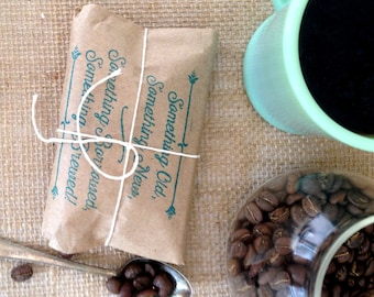 Ready to Ship. Bridal Shower Favors. Coffee favors. Freshly roasted, gourmet, unique. Set of 30.