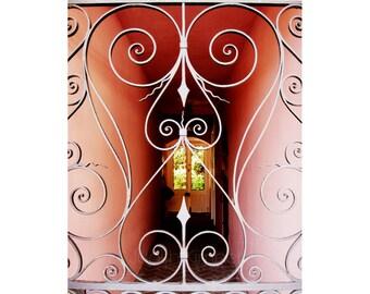Charleston SC Print - Pink Hallway Fine Art Photograph - Architectural Detail - South Carolina - Southern Decor - 8x10