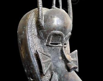 Ethno Art Image Series / Portrait of Senufo Bronze Kpelie Mask–Profile / Tribal Art–African Art / High Res Print / Fine Art Photography