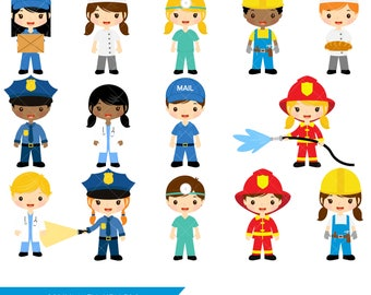 Community Helpers Clipart | Job Clip Art | Profession Clipart | Occupations