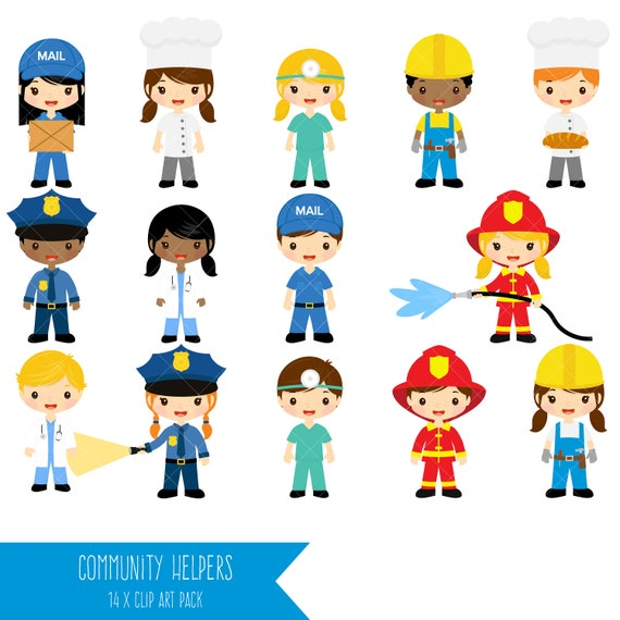 community helpers clipart job clip art profession clipart rh etsy com community helpers clipart teacher community helpers clipart free