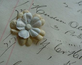 Soft Thick Paper Flowers  2 Dozen Lot