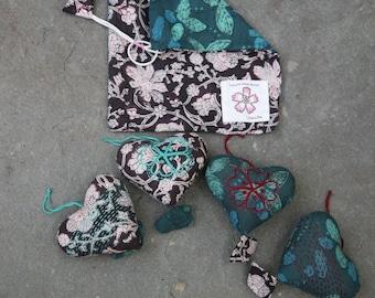 Holiday heart ornaments