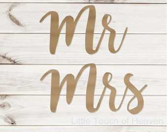 SALE!!! Mr & Mrs Chair signs / calligraphy / Photo Prop/ DIY/ Unfinished/ Wood Blank