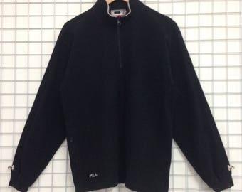 Vintage Fila Sweatshirts Half Zipper Medium Size Nice Design