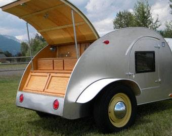 Build your own 8' Teardrop Camper Trailer (DIY Plans) Fun to build!