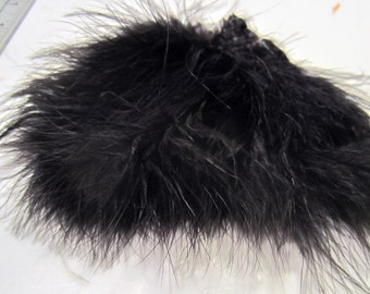 black Marabou Feathers MRDQ-12 .25oz Craft feathers