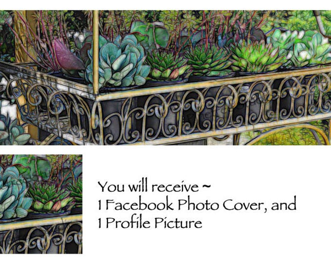 Garden Pleasure ~ Facebook Blank Cover Photo and Profile Picture
