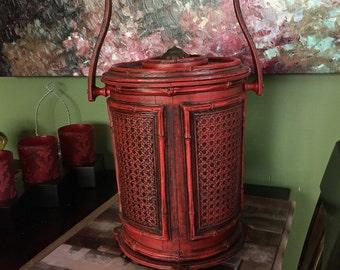Hollywood Regency Asian Inspired Ice Bucket