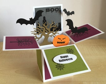 Happy Halloween greeting card in a box.