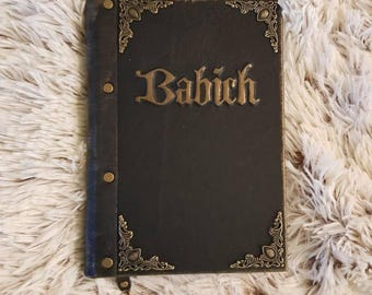 Handmade leather notebooks with your name. Diary