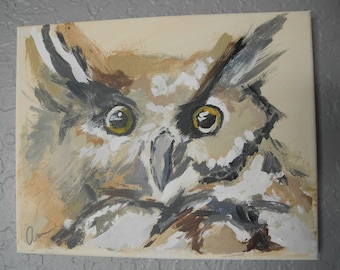 "Owl Painting ""Ollie"""