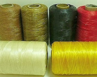 SINEW / Sinue leather thread beading crafts artificial sinew for beadwork fringe Hand Crafted Beading Loom