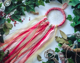 Pink and Gold Dreamcatcher - Large // Dream Spell