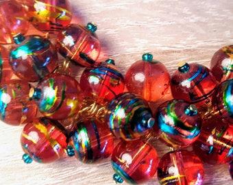 Glass beads cluster bracelet