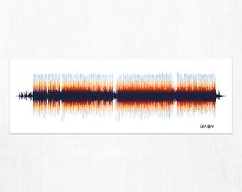 Baby - Soundwave Art Print, Framed Print, or Canvas