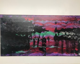 The Clearing Dark 24x48 abstract acrylic