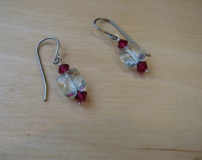 Insouciant Studios Bud Earrings Sterling Silver Quartz