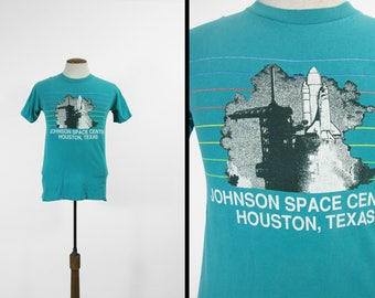 Vintage Johnson Space Center T-shirt Houston Texas Space Shuttle Tee - Medium
