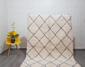 moroccan rug - moroccan berber rug beni ouarain - dimensions : 215  x 145  cm
