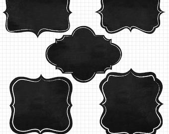 Chalkboard Clipart  Frames Instant Digital Downloadable Images for Digital Scrapbooking
