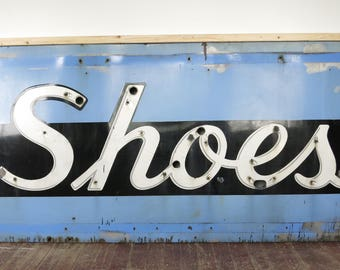 Vintage Brooklyn Shoes Sign 1950's