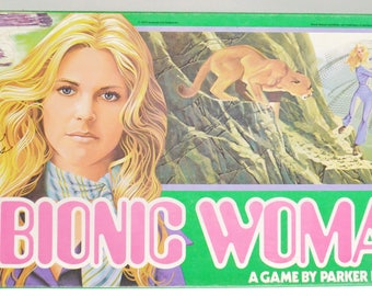 Vintage 70s The Bionic Woman Parker Brothers Board Game