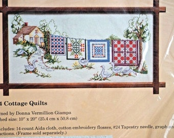 Creative Circle Cottage Quilts 1674 Counted Cross Stitch Kit Craft Hobby NEW
