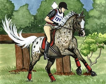 FINE ART Horse Print eventing appaloosa youngster EXUBERANCE
