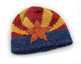 Arizona Flag Hand-knit Beanie